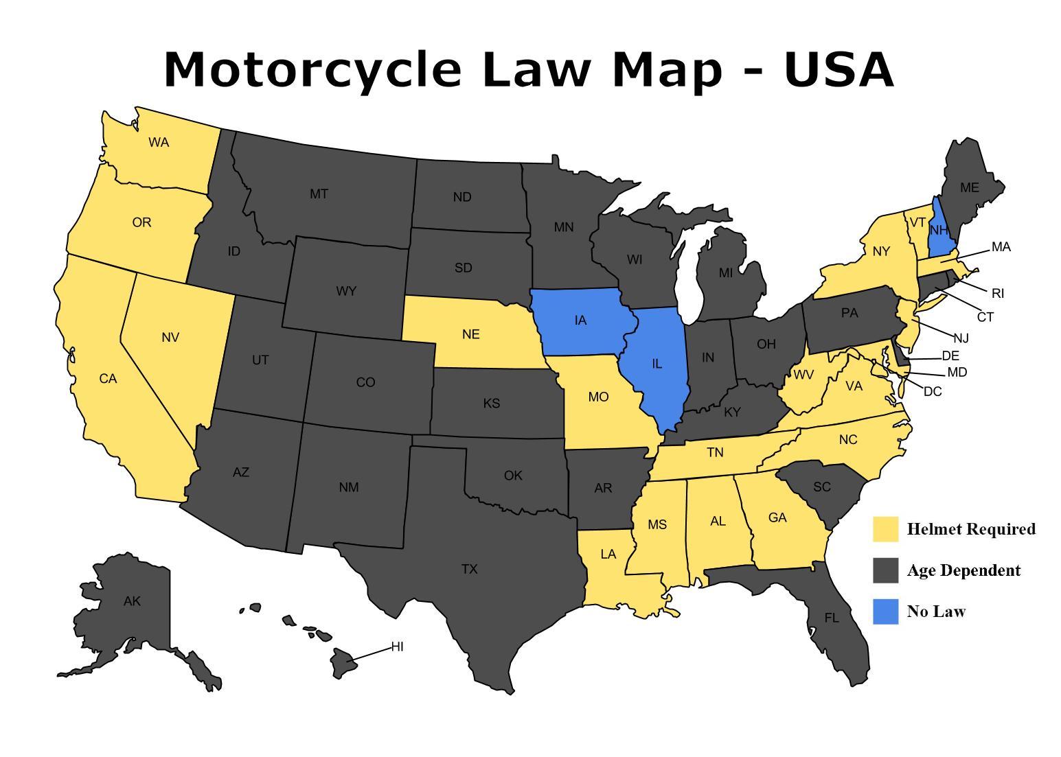 Motorcycle Helmet Law In Illinois | disrespect1st.com