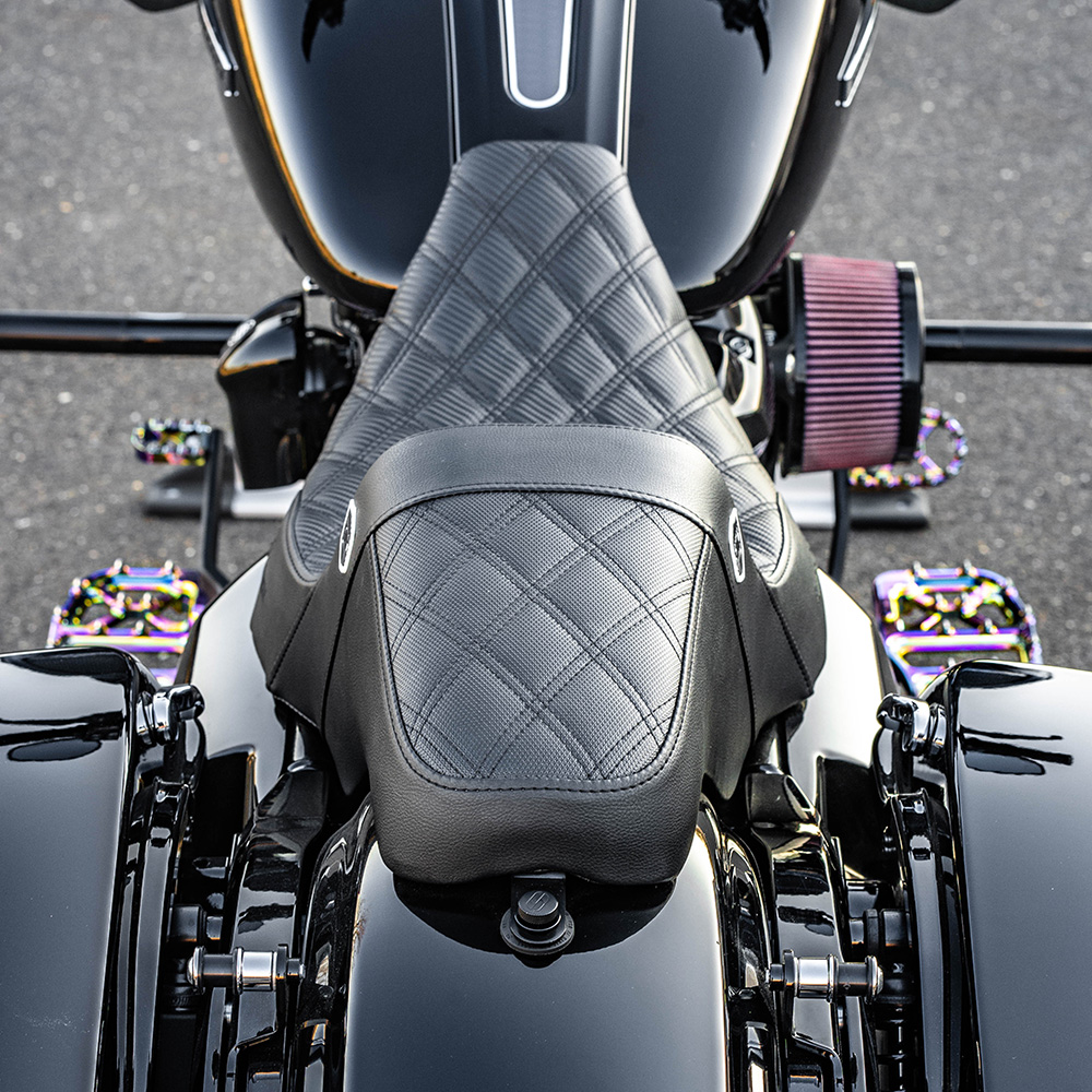 San Diego Customs Pro Series Performance Gripper Seat for 2008-2020 Harley Touring