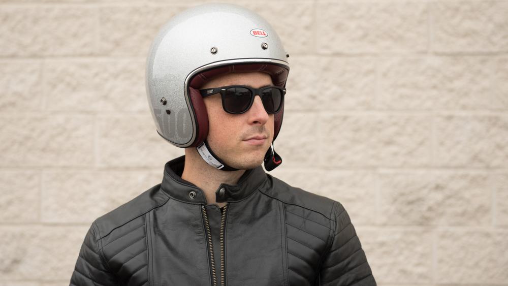 Bell Custom 500 Silver Flakes Helmet Get Lowered Cycles