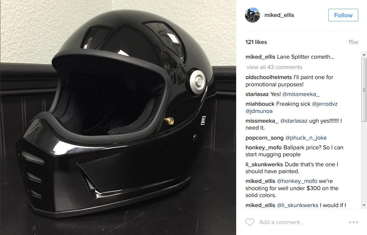 b89eb5d5 Biltwell Lane Splitter Helmet to be Released in 2016 - Get Lowered ...