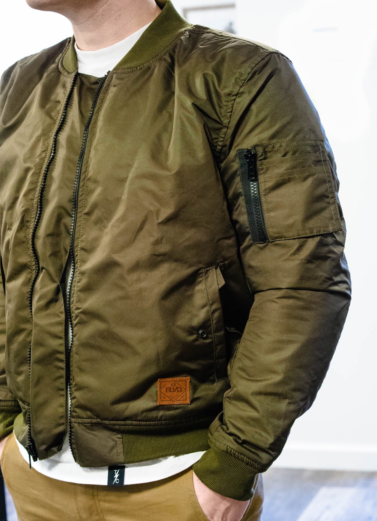 Cortec h Skipper Waterproof Bomber Jacket - Olive