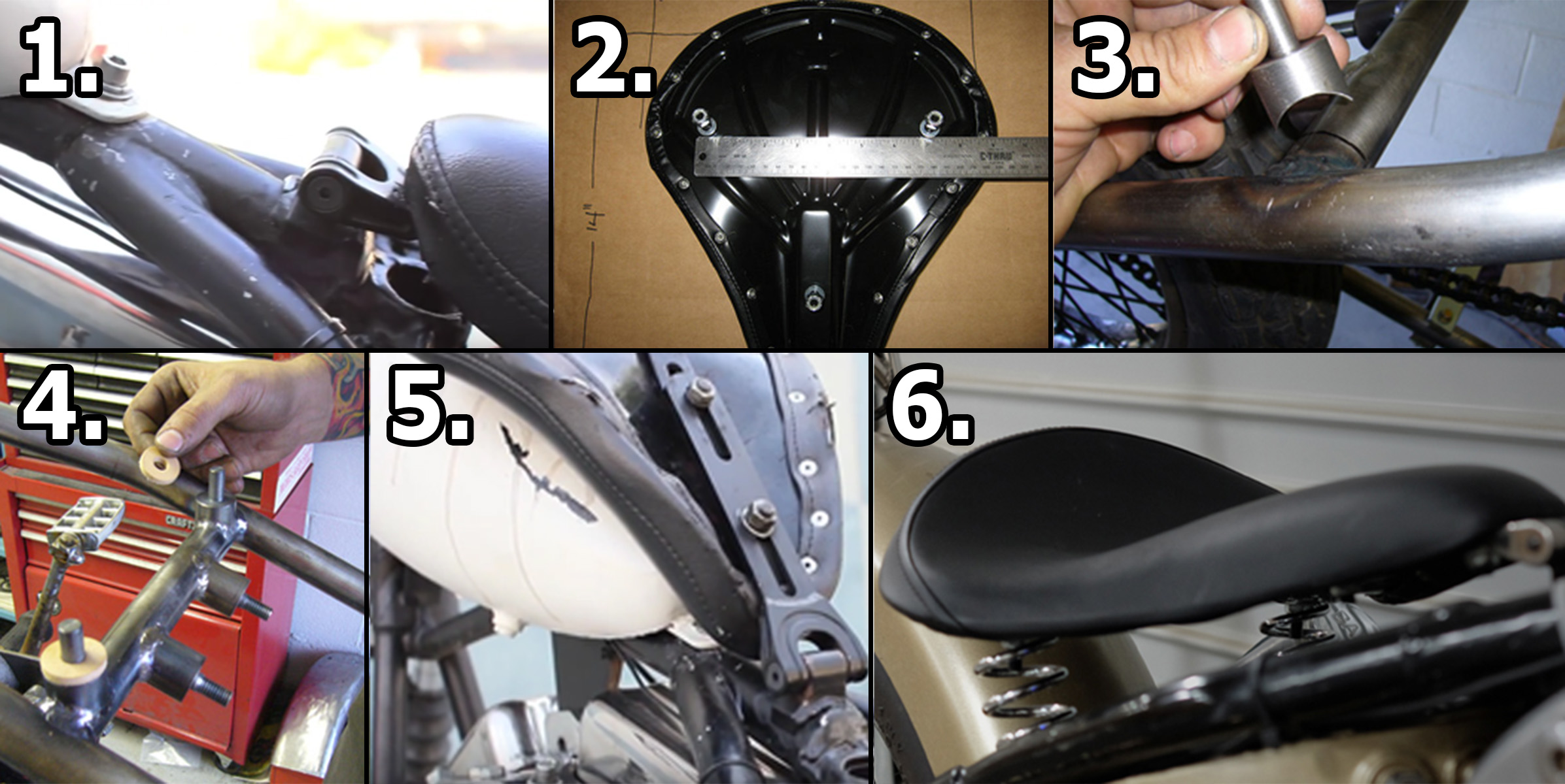 Diy Solo Seat Installation Steps For Harleys And Custom Motorcycles Get Lowered Cycles