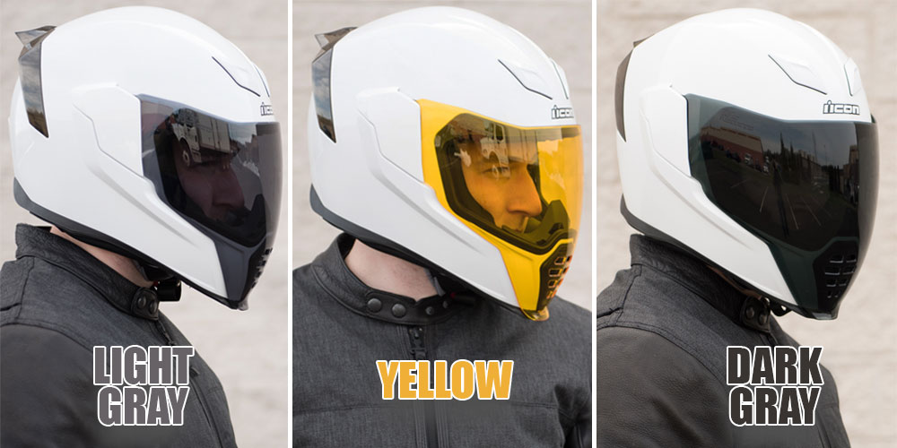 9b76e3d8 Icon Airflite Helmet Face Shield Colors - Get Lowered Cycles