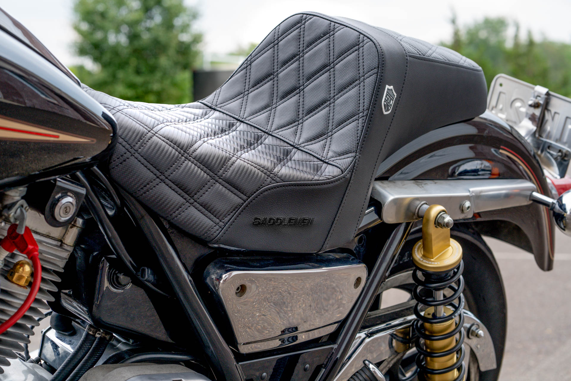 San Diego Customs Pro Series Performance Gripper Seat - Harley FXR